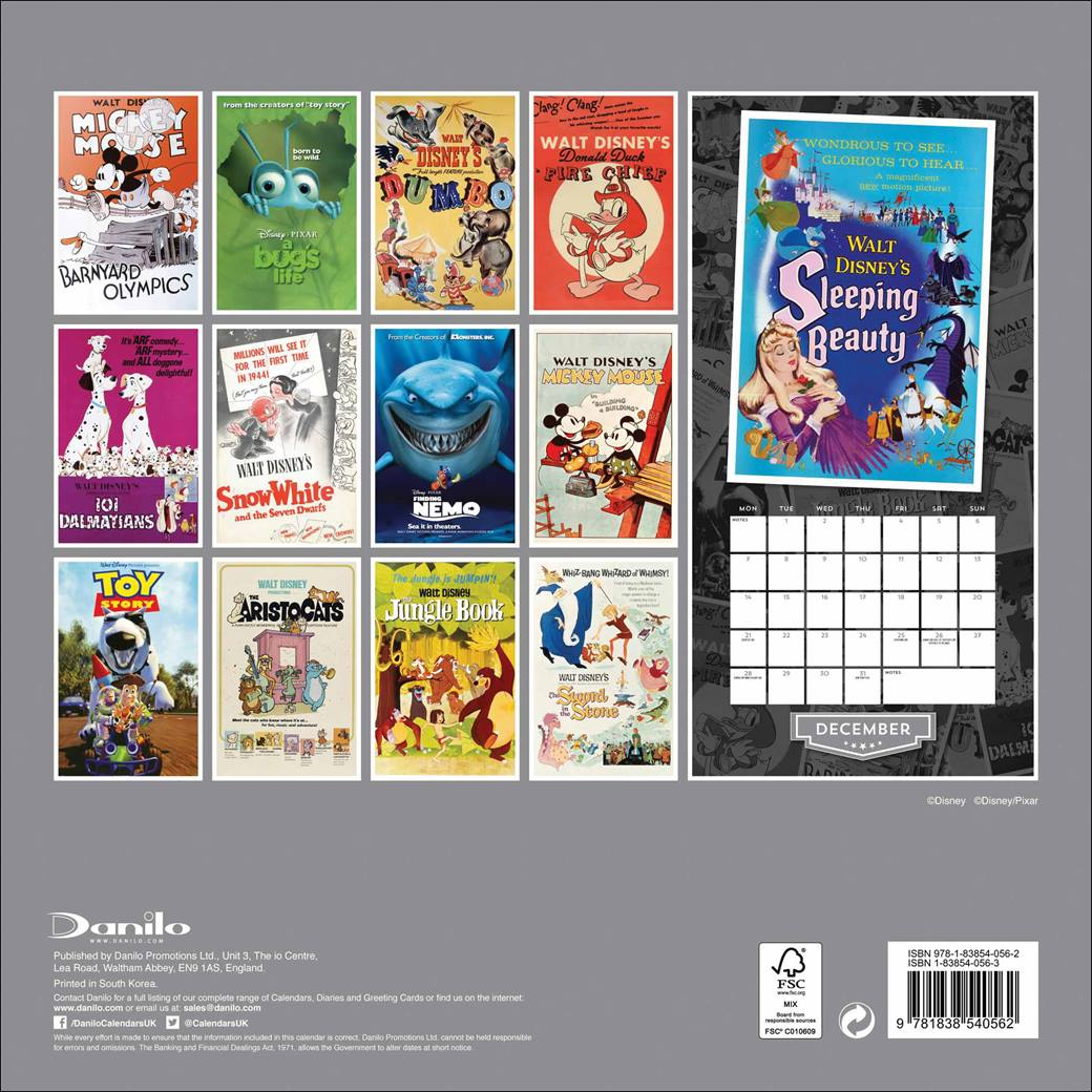 Disney Vintage - Oficjalny Kalendarz 2020 rok