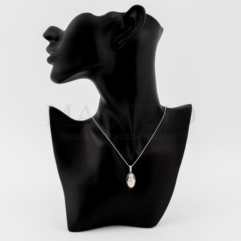 srebrny medalik - szkalperz z wizerunkiem Matki Boskiej Nieustającej Pomocy
